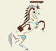 Futuristic Imagination - Horse by UniqSchweick12