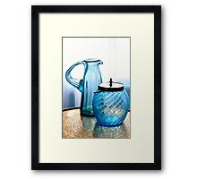 DOUBLE BLUE Framed Print