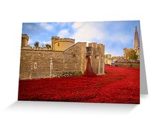 Poppies At Tower Of London Greeting Card