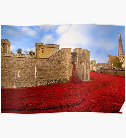 Poppies At Tower Of London Poster