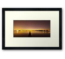 The Jetty & The Bridge Framed Print