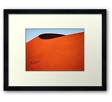 Sculptured dune, Namib Desert soon after sunrise  Framed Print