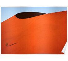 Sculptured dune, Namib Desert soon after sunrise  Poster