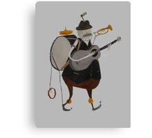 One Man Band Machine Canvas Print