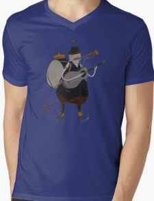 One Man Band Machine Mens V-Neck T-Shirt