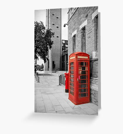 Red Telephone & Post Box Greeting Card