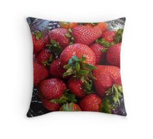 """Strawberries"" Throw Pillow"