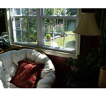 """Papasan Chair By Sunroom Window"" Photographic Print"