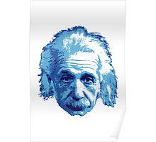 Albert Einstein - Theoretical Physicist - Blue Poster