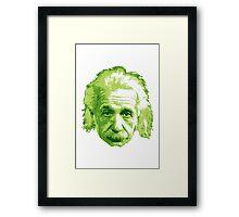 Albert Einstein - Theoretical Physicist - Green Framed Print