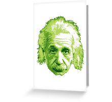 Albert Einstein - Theoretical Physicist - Green Greeting Card