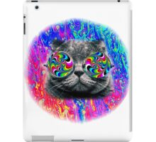 Psychedelic Trippy Cat iPad Case/Skin