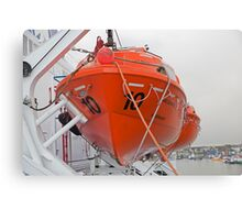 lifeboat onboard DFDS King seaways Canvas Print