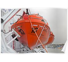 lifeboat onboard DFDS King seaways Poster