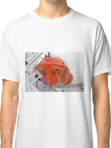 lifeboat onboard DFDS King seaways Classic T-Shirt