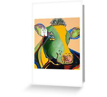 Activist Cow Greeting Card