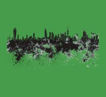 Kuwait City skyline in black watercolor Kids Clothes