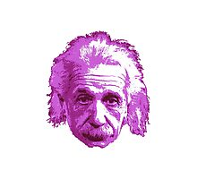 Albert Einstein - Theoretical Physicist - Pink Photographic Print