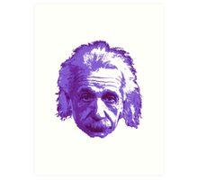 Albert Einstein - Theoretical Physicist - Purple Art Print