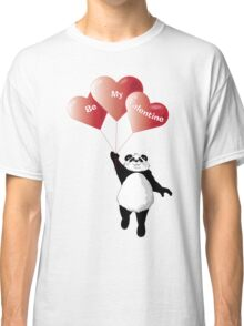 Panda and Balloons Valentine Card Classic T-Shirt