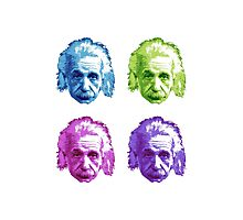 Albert Einstein - Theoretical Physicist - Rainbow Photographic Print