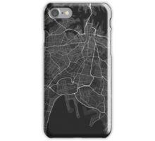 Sydney, Australia Map. (White on black) iPhone Case/Skin