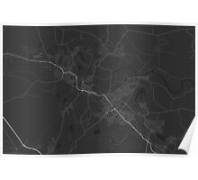 Maitland, Australia Map. (White on black) Poster