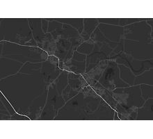 Maitland, Australia Map. (White on black) Photographic Print