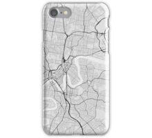 Brisbane, Australia Map. (Black on white) iPhone Case/Skin