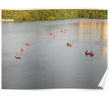 Canoes Gathering Poster