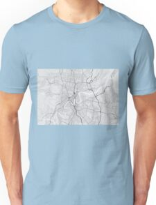 Brisbane, Australia Map. (Black on white) Unisex T-Shirt