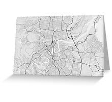Brisbane, Australia Map. (Black on white) Greeting Card