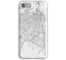 Sydney, Australia Map. (Black on white) iPhone Case/Skin