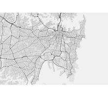 Sydney, Australia Map. (Black on white) Photographic Print