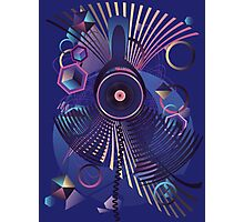 Stylized Music Poster Photographic Print