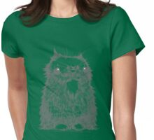 Grey Creepycat Womens Fitted T-Shirt