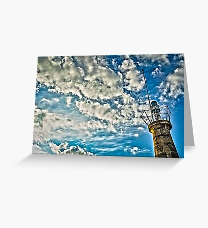 Green Lighthouse Greeting Card