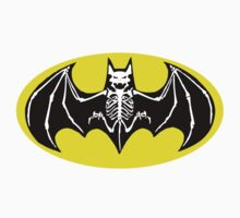 Batman Skeleton Logo 2 Kids Clothes