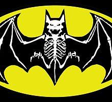 Batman Skeleton Logo 2 by GeekyAlliance