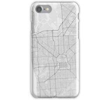 Adelaide, Australia Map. (Black on white) iPhone Case/Skin