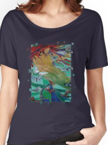 Mermaid and Butterflies  Women's Relaxed Fit T-Shirt