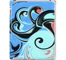 Red, Black, and Blue Abstract Design iPad Case/Skin