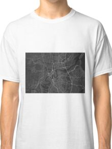 Brisbane, Australia Map. (White on black) Classic T-Shirt