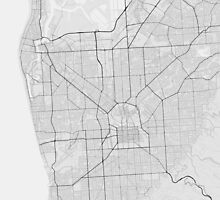 Adelaide, Australia Map. (Black on white) by Graphical-Maps