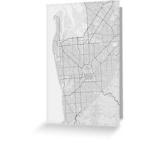 Adelaide, Australia Map. (Black on white) Greeting Card
