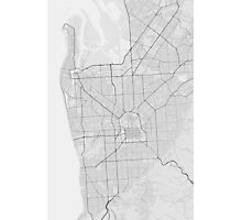 Adelaide, Australia Map. (Black on white) Photographic Print