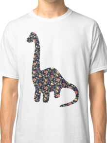 Floral Dinosaur Classic T-Shirt