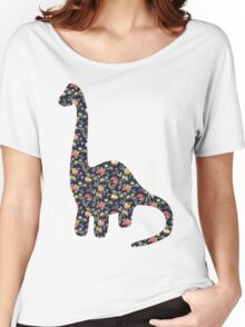 Floral Dinosaur Women's Relaxed Fit T-Shirt