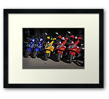 Primary Colours Framed Print