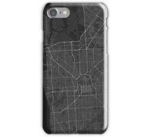 Adelaide, Australia Map. (White on black) iPhone Case/Skin